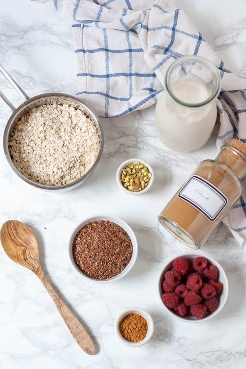 Basic Oatmeal Rezept mit Zimt - vegan, rein pflanzlich, laktosefrei - www.appleandginger.de