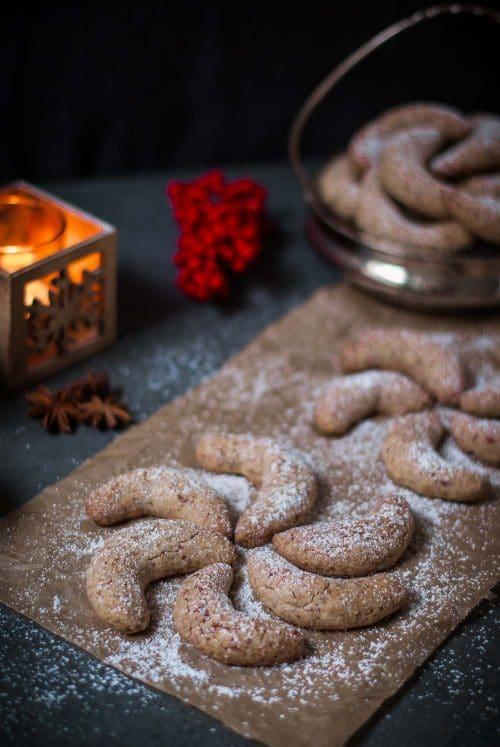 Gesündere glutenfreie Vanillekipferl - glutenfreie Weihnachtsplätzchen ohne raffinierten Zucker - www.appleandginder.de