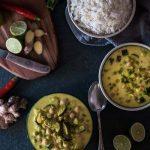 Grünes Curry mit Reis