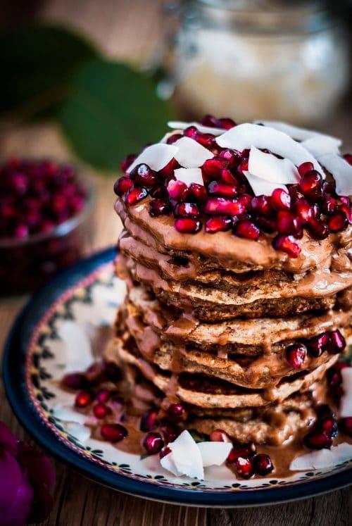 Fluffige Kokos-Pancakes ohne Ei