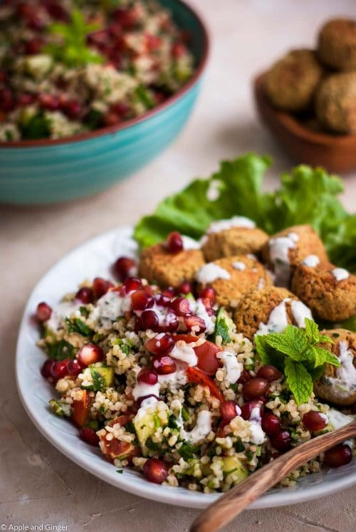 Schnelles 30 Minuten Tabouleh mit Falafel