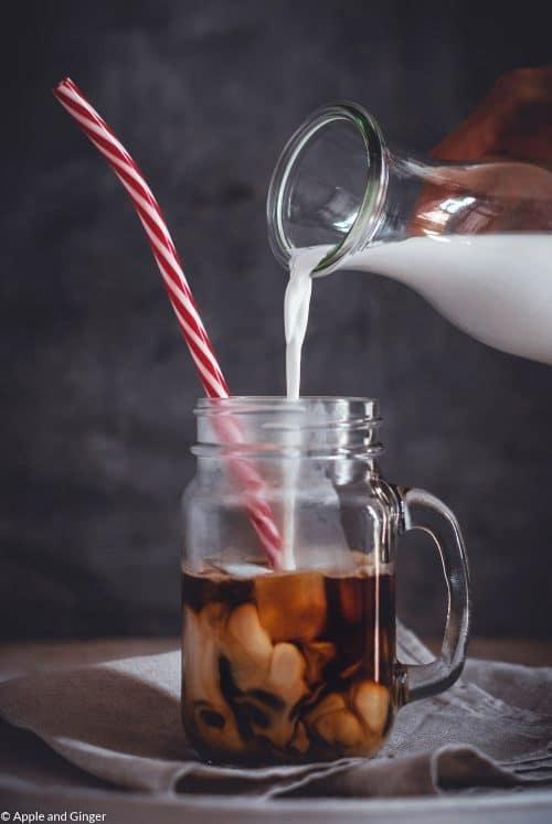 Eiskaffee mit ohne Eis
