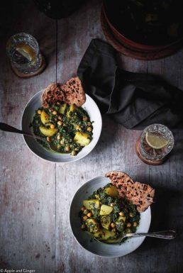 Aloo Palak mit Grünkohl – Kombinationen von Nahrungsmitteln