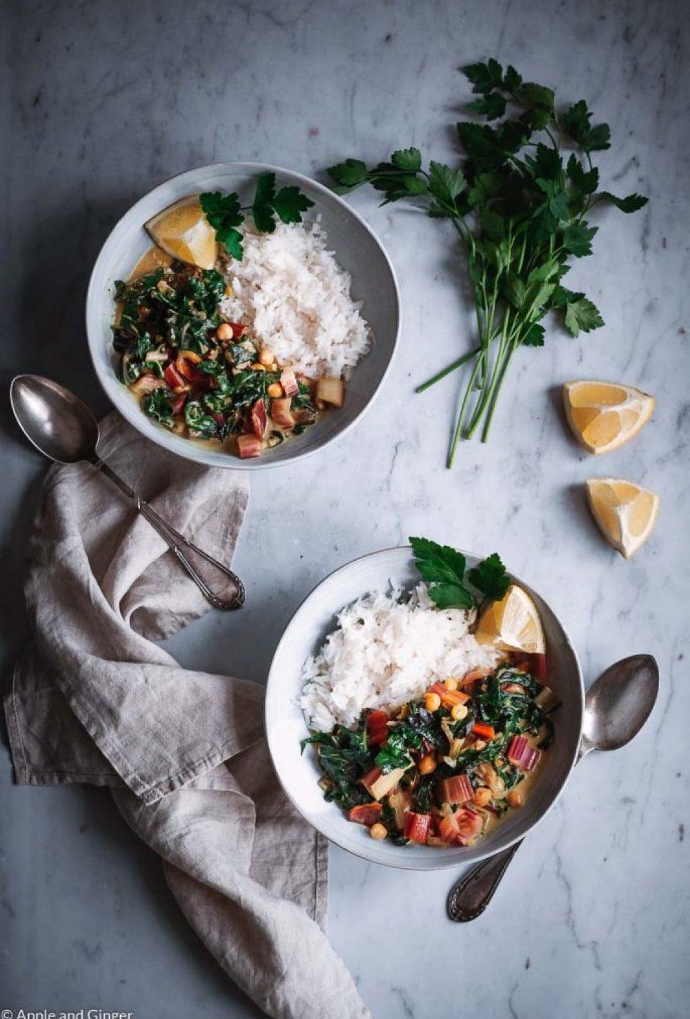 Mangold-Erdnuss-Curry