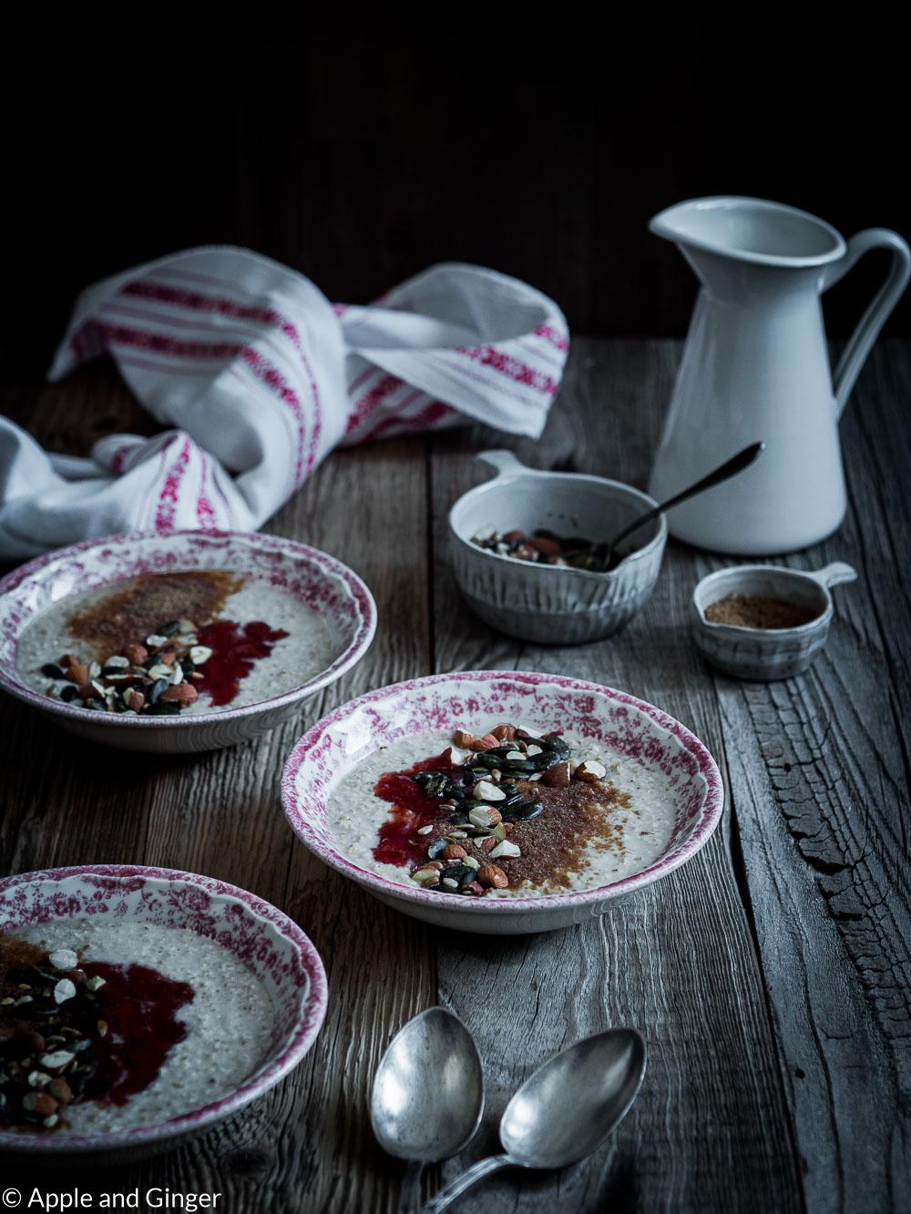 Cremiger Porridge mit Zimt