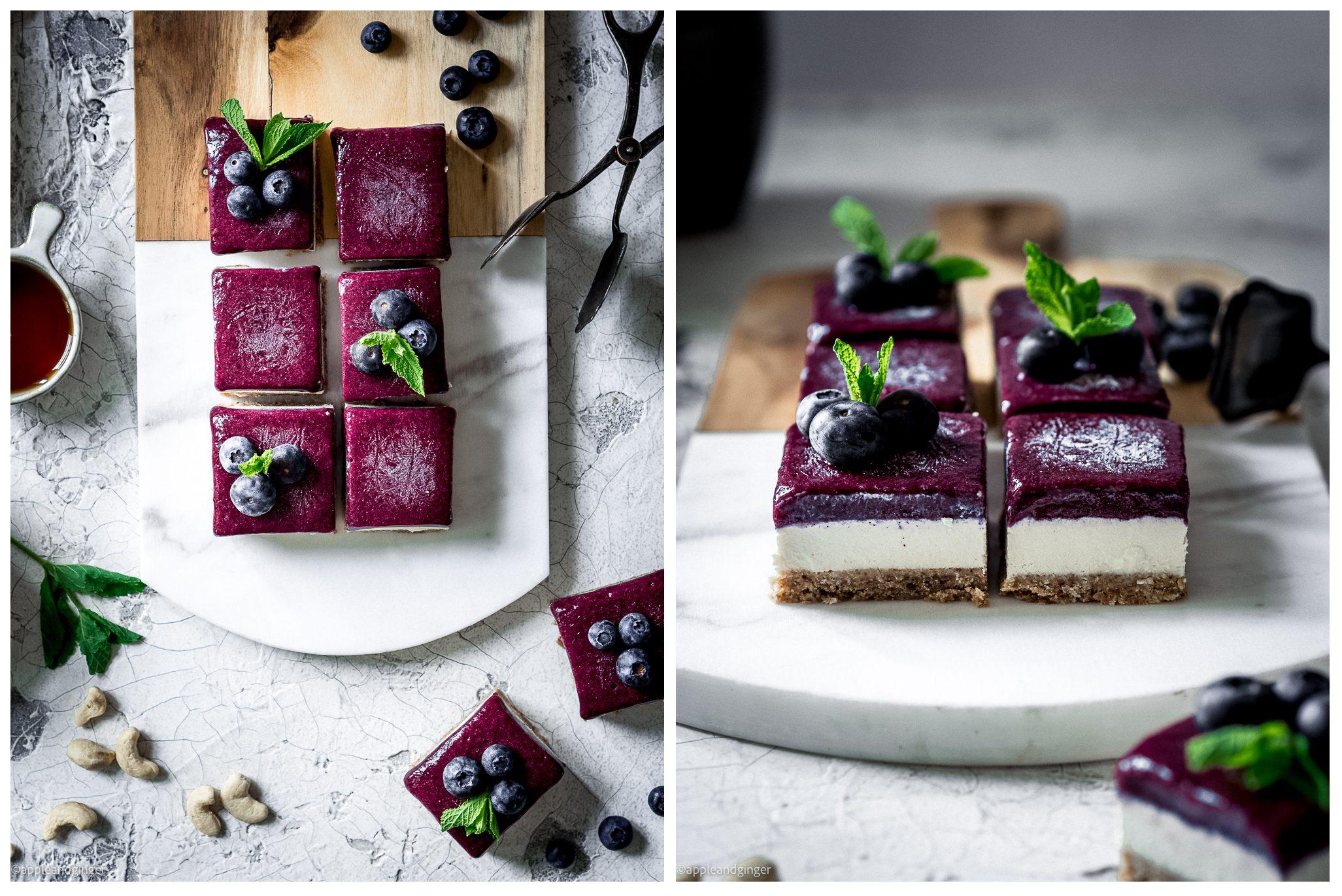 Kokos-Heidelbeer-Raw-Cake