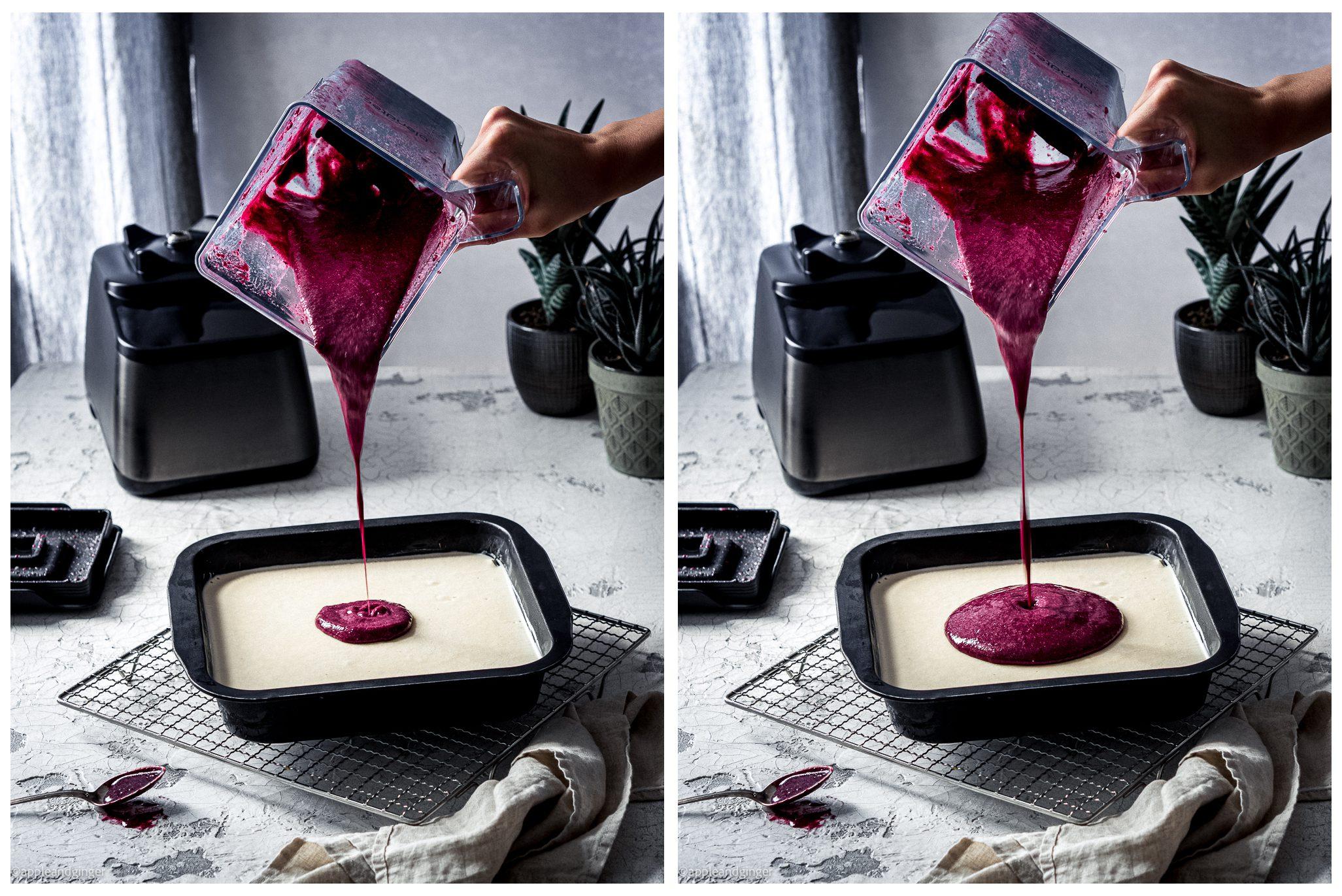Zubereitung des Raw Cake mit dem Mixer